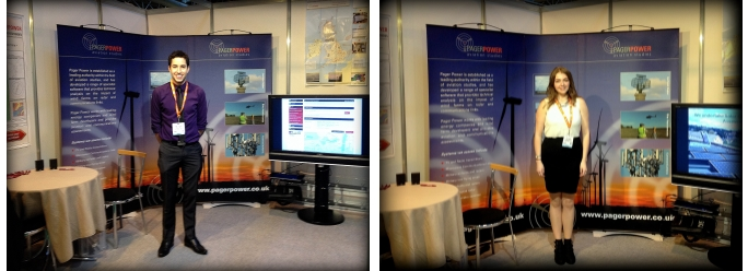 Danny and Amy at the Pager Power RUK 2013 Stand: Aviation Radar and Comms