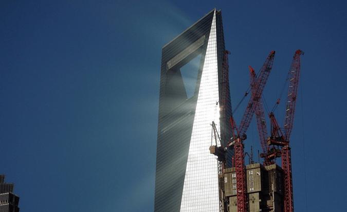 Glare from Shanghai World Financial Center
