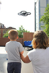 Child Flying A Drone