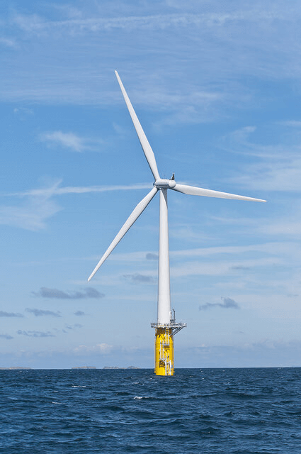 Hywind's floating offshore turbine off the coast of Norway