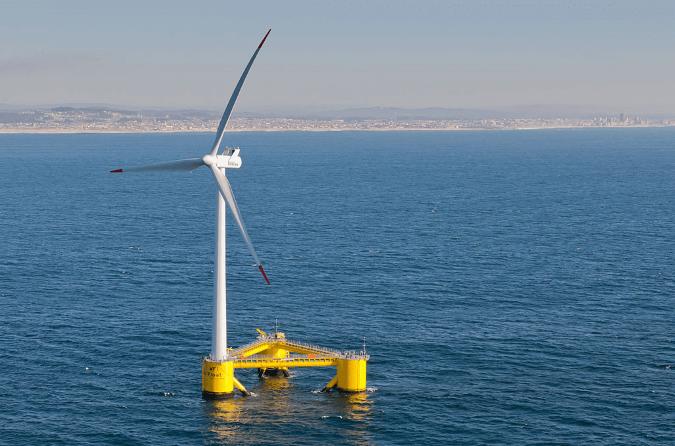 WindFloat Floating Offshore Turbine, Agucadoura, Portugal
