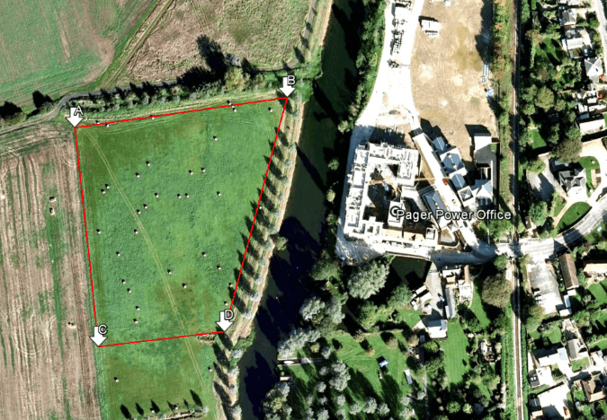 Example Location where Pager Power conducted Solar Glint and Glare analysis