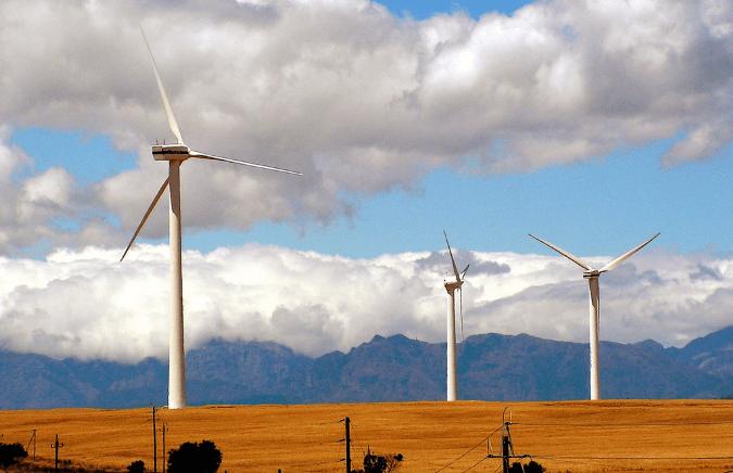 A wind farm in South Africa