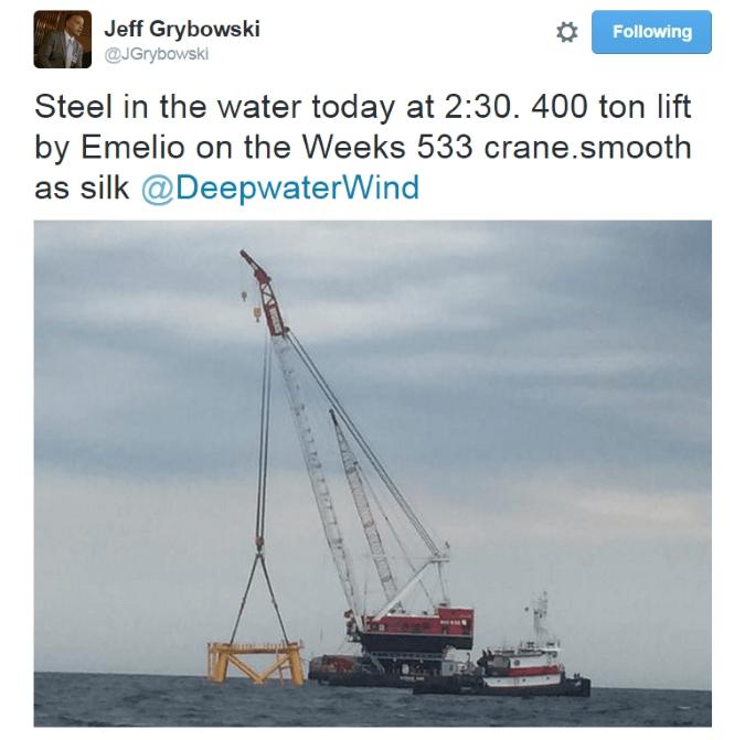 Block Island Wind Farm Jeff Grybowski Tweet