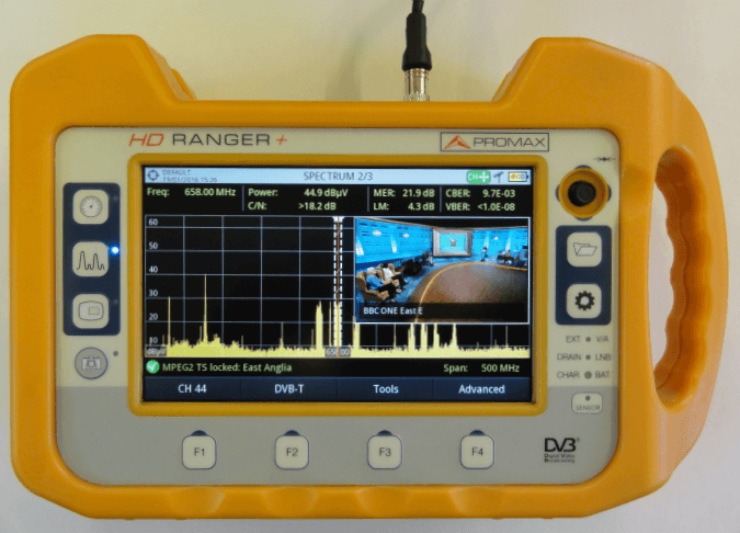 TV Reception Analyser used by Pager Power for Surveying