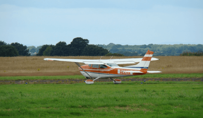 Cessna 182 Aircraft used for Pager Power flight trials