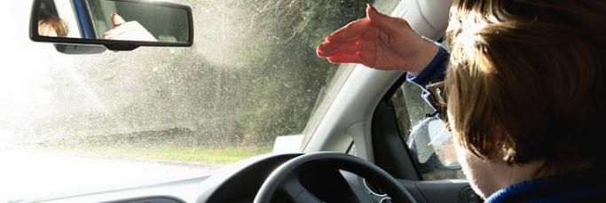 Driving Into Sunlight - Driver Solar Glare
