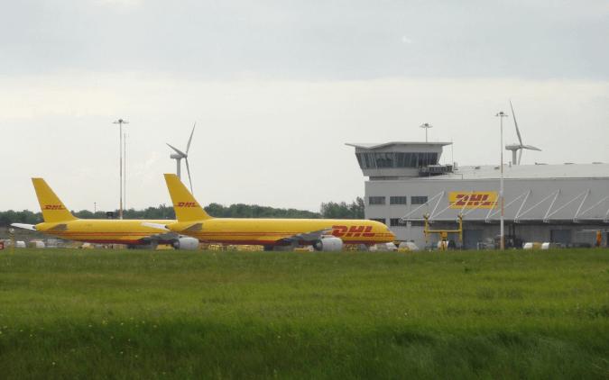 Wind Turbines at East Midlands Airport, UK