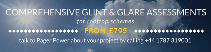 Pager Power Rooftop Solar Glint and Glare Assessments