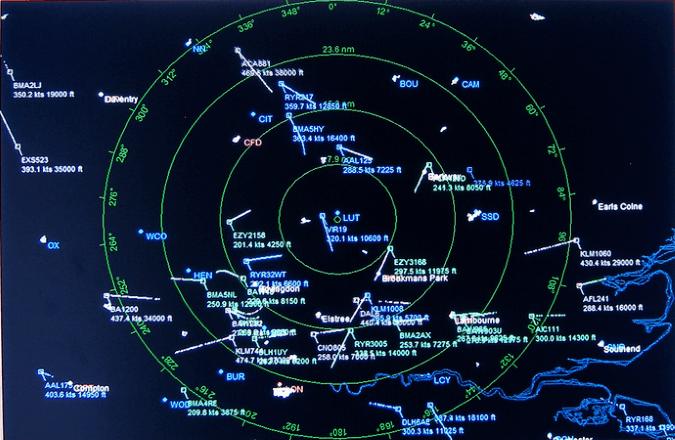 Air Traffic Control Radar Screen