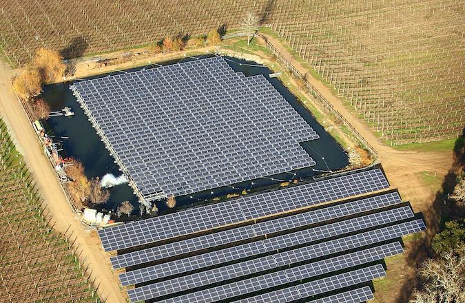 floating solar island