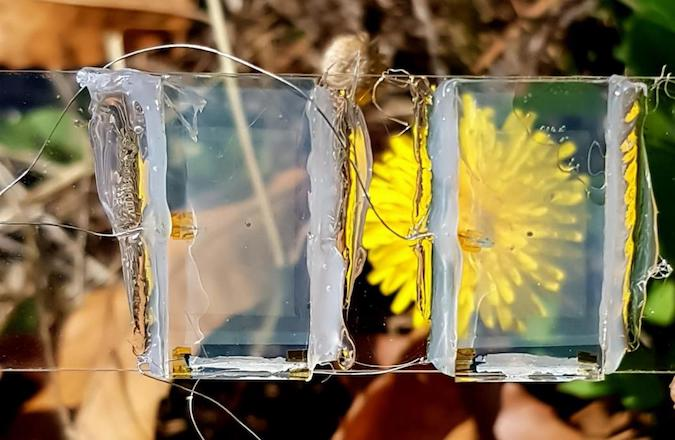 clear solar PV panels