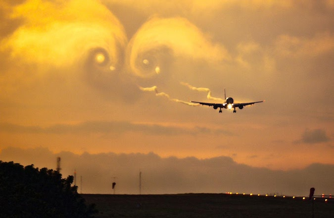 aircraft wake wind farm